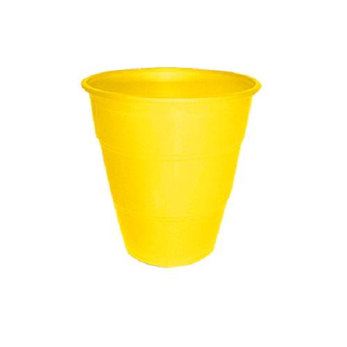 Copo Descartável Happyline 210ml Amarelo Silverplastic