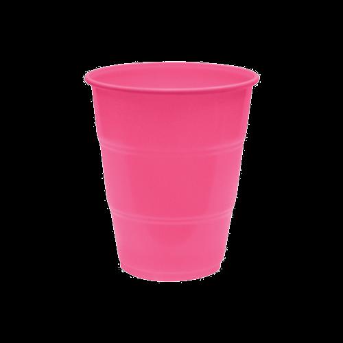 Copo Descartável Happyline 210ml Pink 10unid Silverplastic