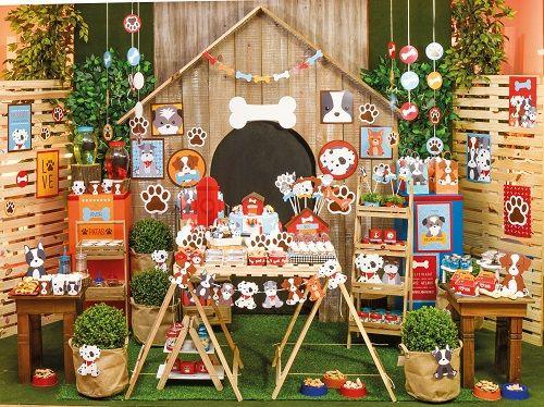 Cortina Decorativa Festa Cachorrinhos 01 unid Cromus