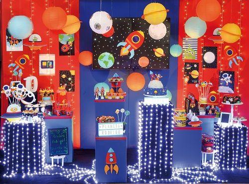 Enfeite Decorativo de Mesa Festa Astronauta 04unid Cromus