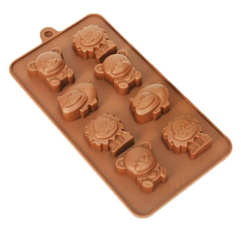 Forma de Silicone para Chocolate Animais