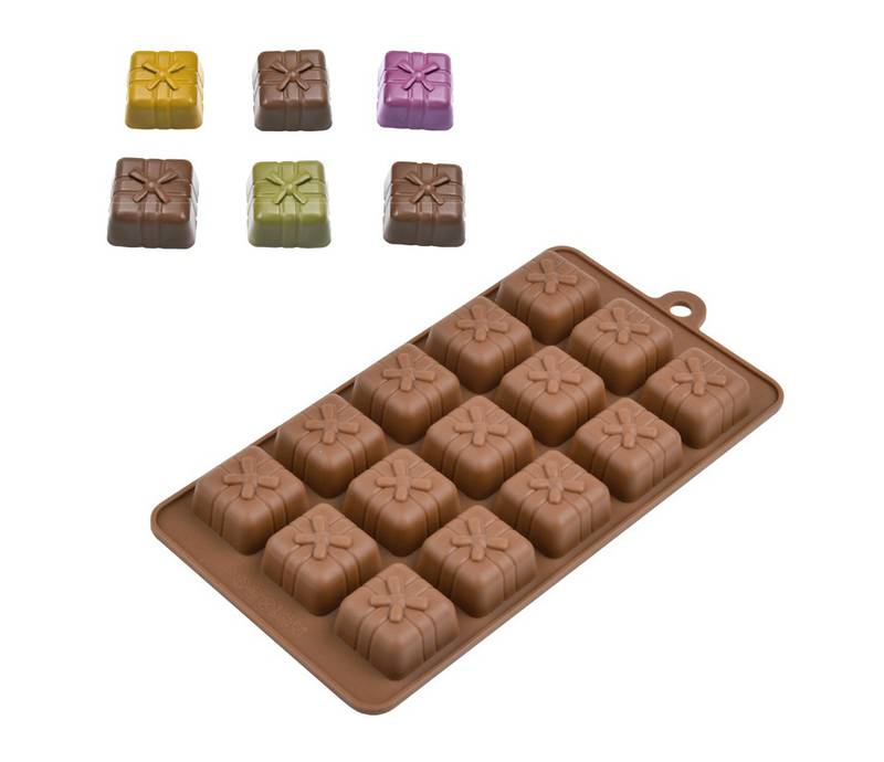 Forma de Silicone para Chocolate Presente