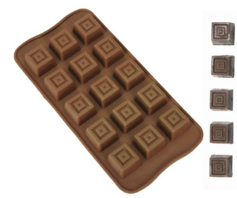 Forma de Silicone para Chocolate Quadrado