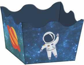 Forminha Caixeta Festa Astronauta 24unid Duster