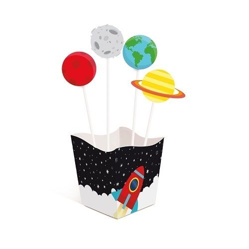 Kit Cahepô com Pick Festa Astronauta 04unid Cromus