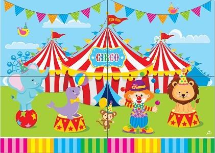 Painel Gigante de Parede Festa Circo Mágico Junco