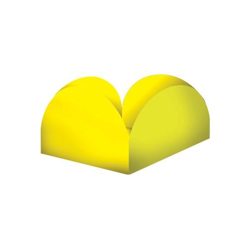 Porta Forminhas para Doce 50unid  Amarelo Junco