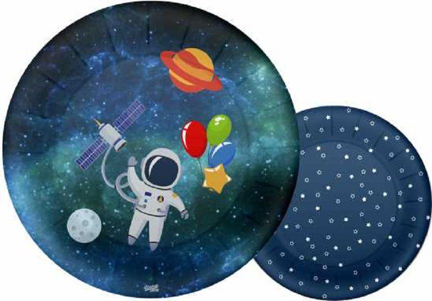 Prato de Papel Festa Astronauta 08 unidades