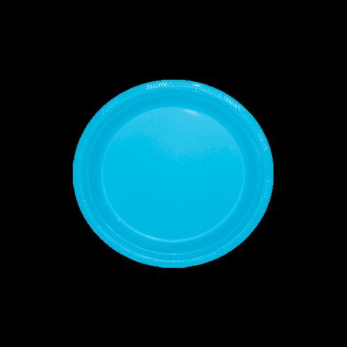 Prato Sobremesa Descartável Azul Claro 10unid Happyline