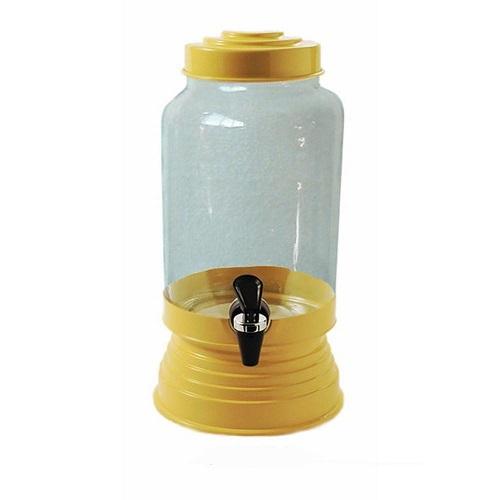 Suqueira de Vidro Amarela - 3,25 litros