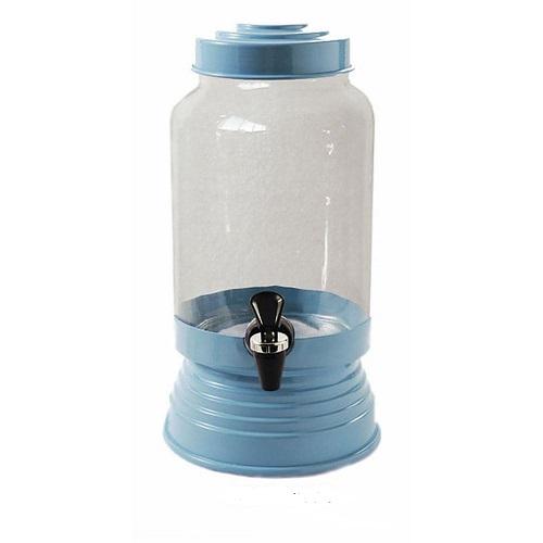 Suqueira de Vidro Azul Bebê - 3,25 litros