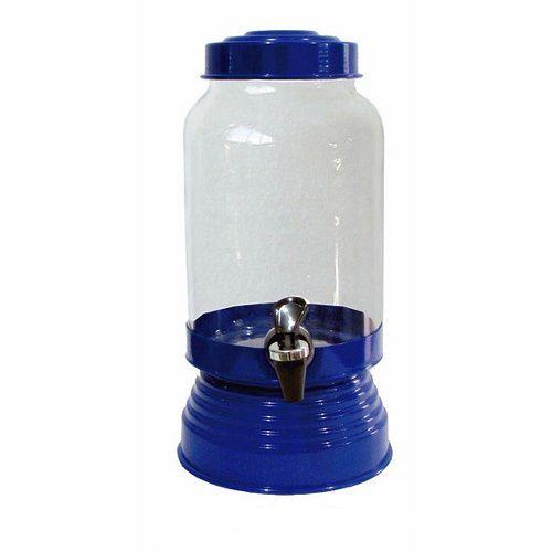Suqueira de Vidro Azul Verniz - 3,25 litros