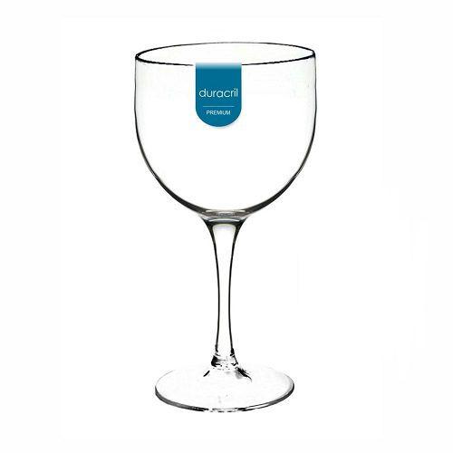 Taça Acrílica para Gin 450ml Duracril Transparente 06unid