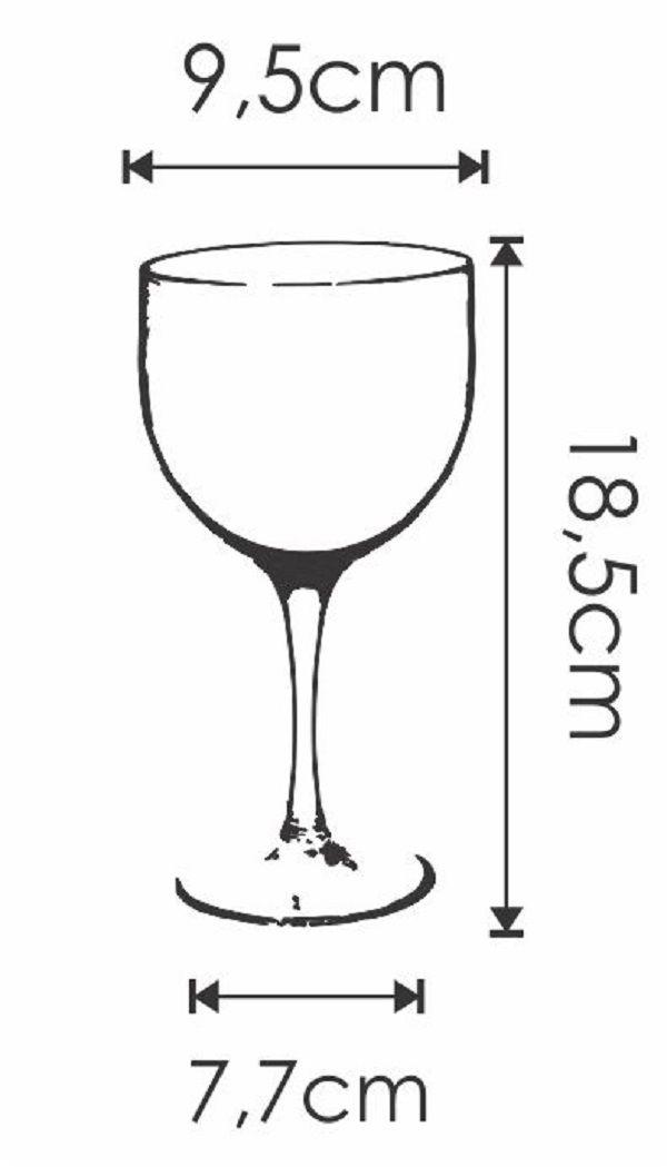Taça Acrílica para Gin 450 ml Duracril