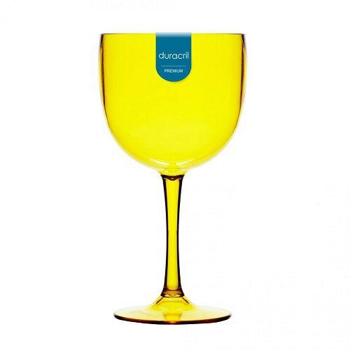 Taça Acrílica para Gin 580ml Duracril Amarela 12unid