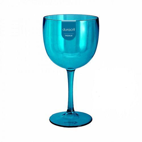 Taça Acrílica para Gin 580ml Duracril Azul 06unid