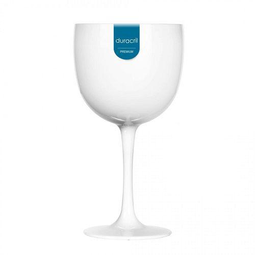 Taça Acrílica para Gin 580ml Duracril Branca 12unid