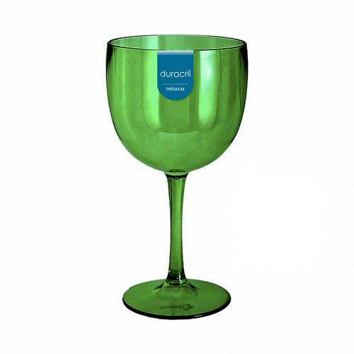 Taça Acrílica para Gin 580ml Duracril Verde 12unid