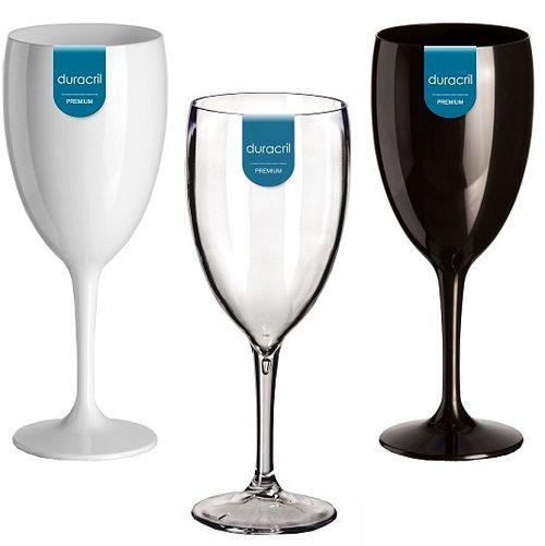 6 Taças Acrílicas para Vinho 300ml Duracril