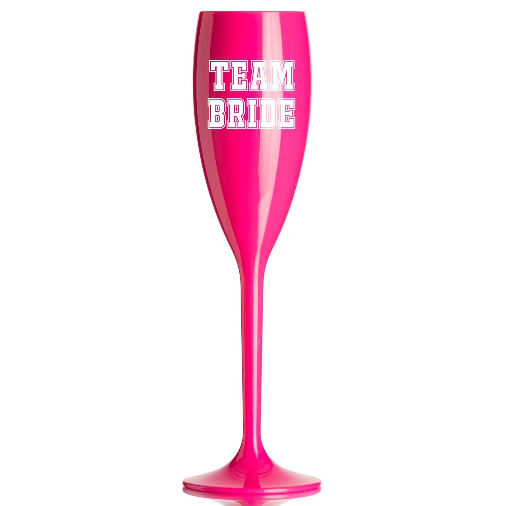 Taça Acrílica para Champanhe Despedida de Solteira 160ml Pink e Branca