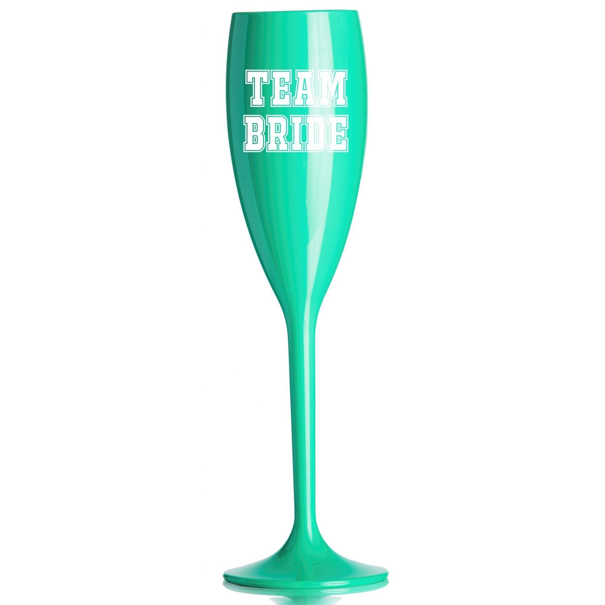 Taça Acrílica para Champanhe Despedida de Solteira 160ml Tiffany e Branca