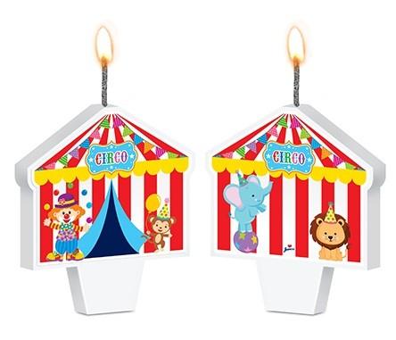 Vela de Aniversário Festa Circo Mágico Junco