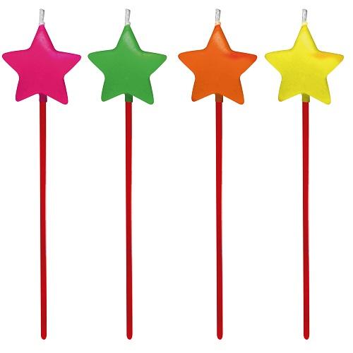Vela de Aniversário Estrela Silverplastic