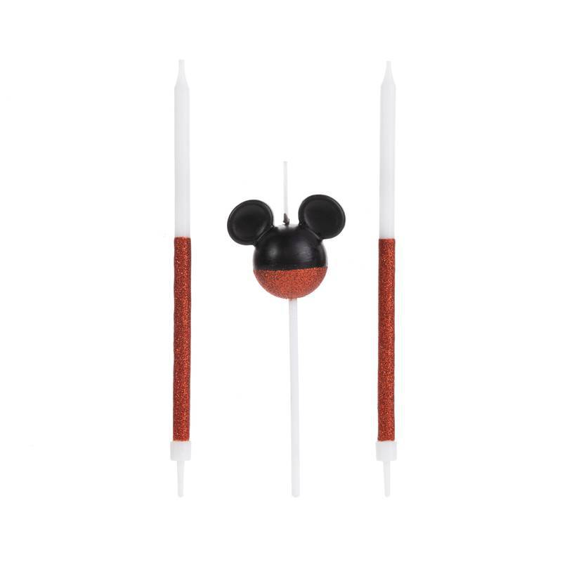 Vela Mickey Glitter Vermelha