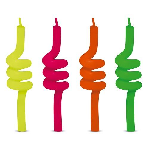 Vela de Aniversário Tubo Neon Silverplastic