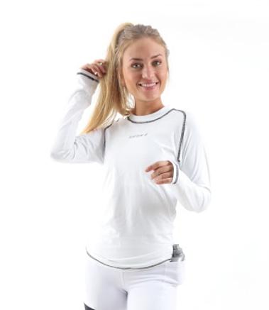 Camiseta Race Manga longa Feminina Branca
