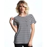 Camiseta Feminina Listrada Pocket
