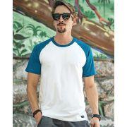 Camiseta Raglan 70's Blue