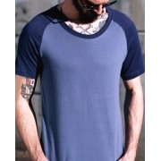 Camiseta Raglan 70's Deep Blue
