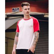 Camiseta Raglan 70's Red