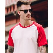 Camiseta Raglan 70's Red