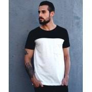 Camiseta Recortes Preto/Cinza