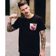 Camiseta Roses Pocket