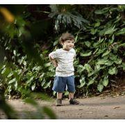 Conjunto Curto Masculino Camisa + Bermuda Estampa Dog Infantil