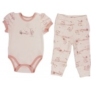 Conjunto Feminino Body + calça Estampado Little Cats BY BIBE