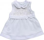 Vestido Manga Curta Branco