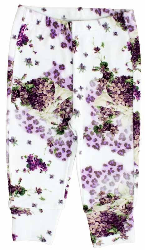 Calça Feminina Básica Estampa Violetas