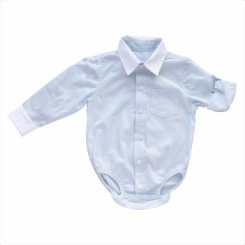 Body Masculino Camisa Manga Longa  Listras Azuis