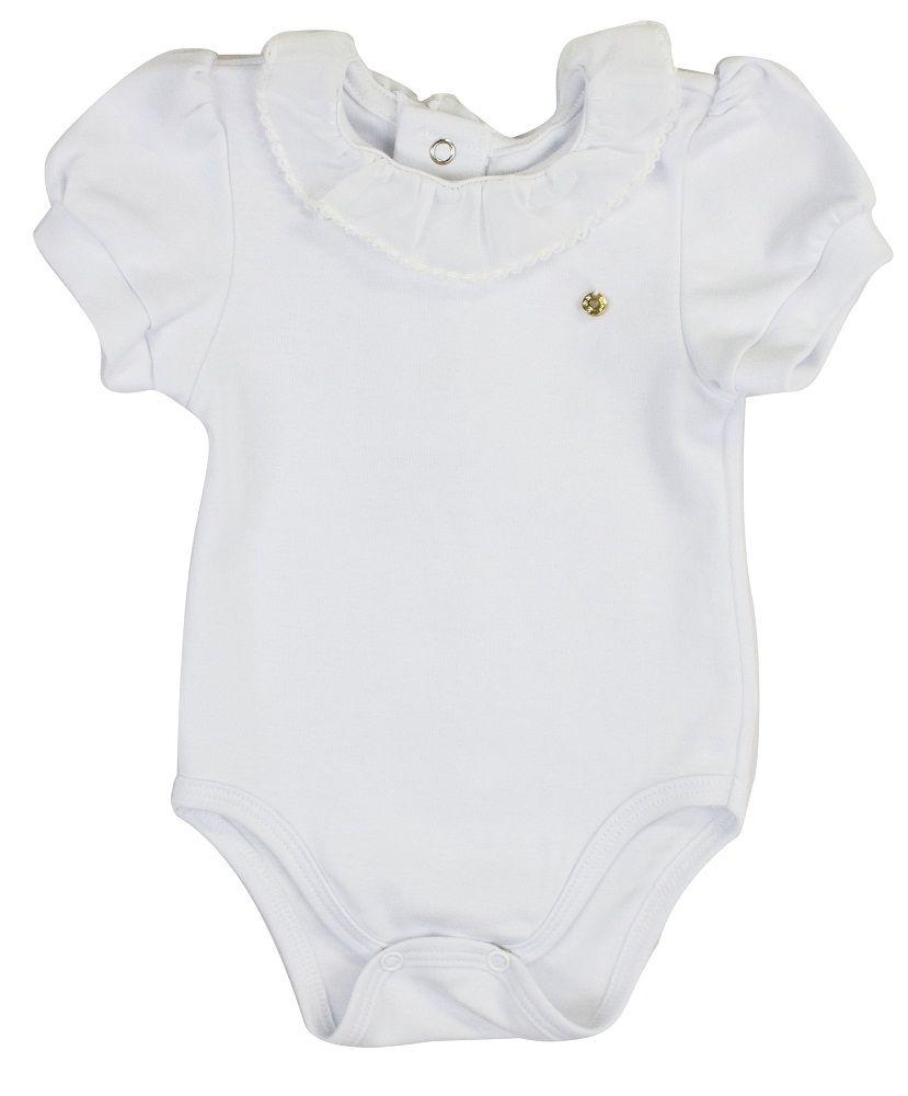 Body feminino Bebê Manga Curta Suedine 100% Algodão BY BIBE