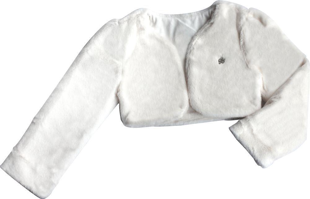 Bolero Feminino Pelúcia Infantil Branco
