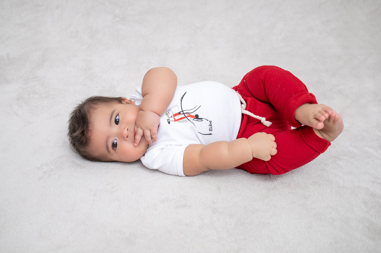 Calça Bebê Saruel Moletom BY BIBE