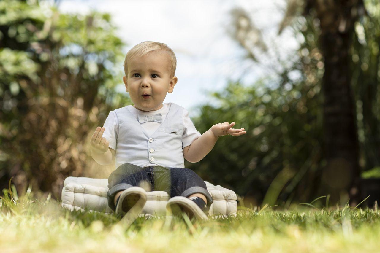Calça Bebê Comfort  Jeans Reta BY BIBE