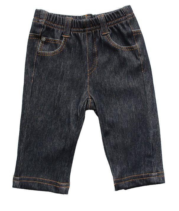 Calça Jeans Masculina Reta Trompe L'oeil Comfort Denim Bebê