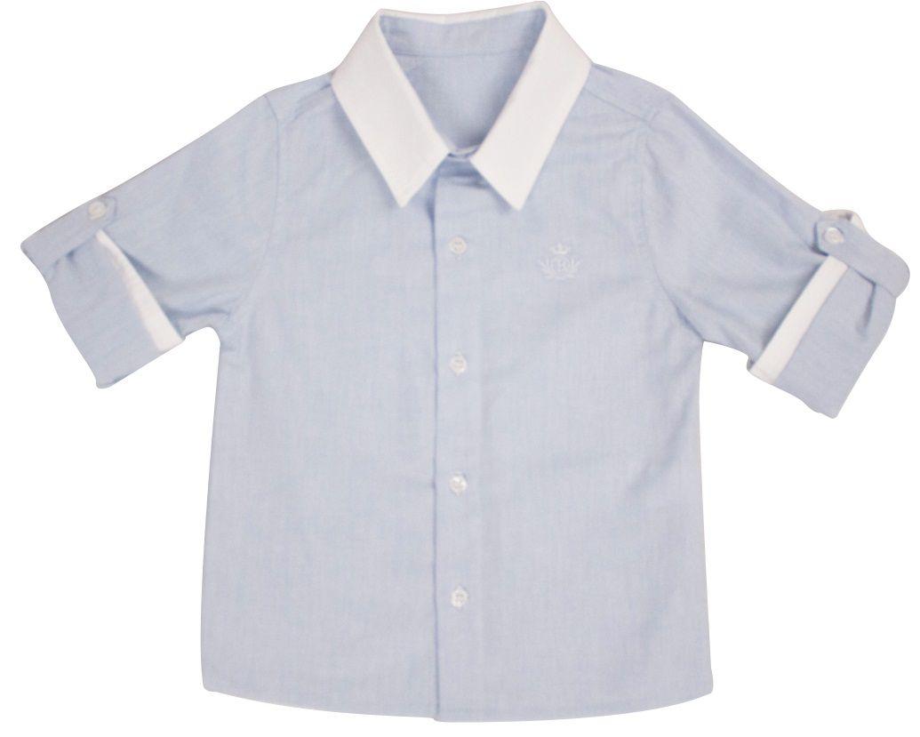 Camisa Masculina Manga Longa Oxford Infantil