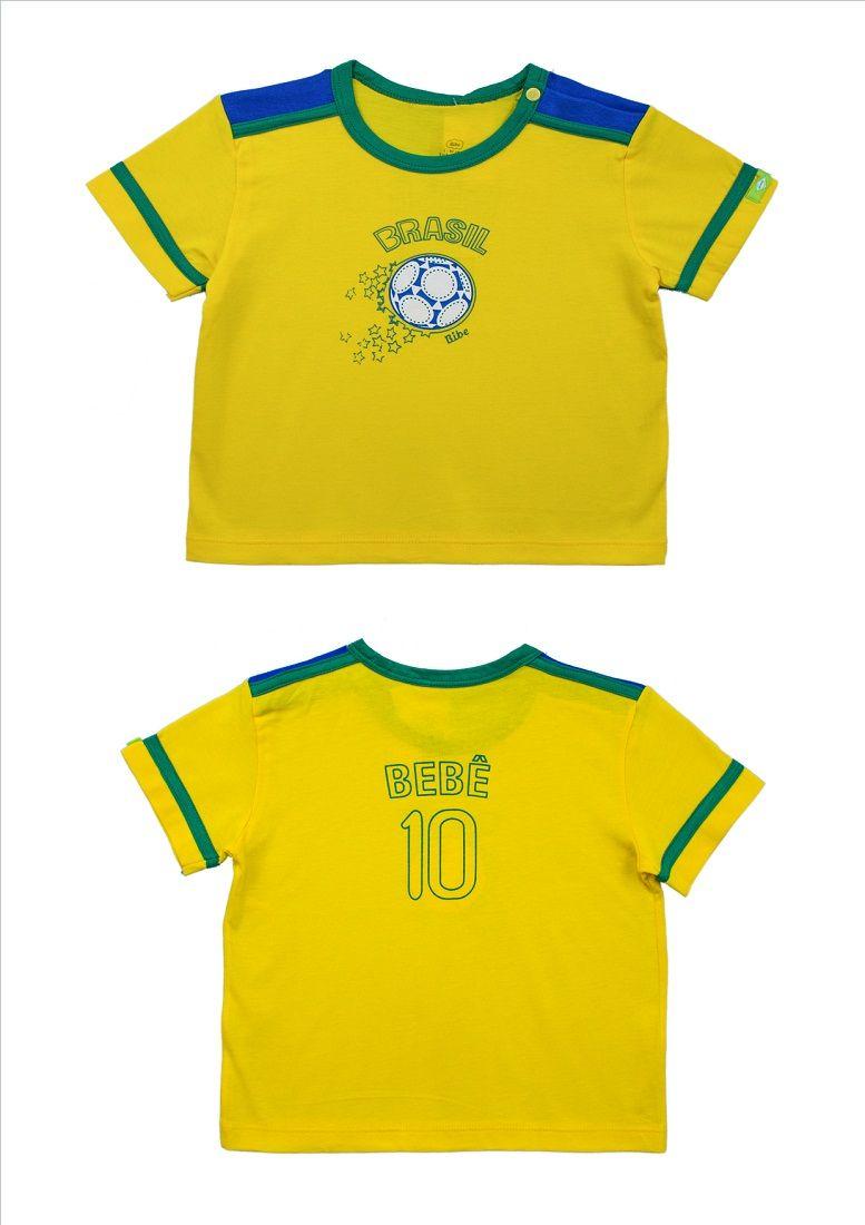 Camisa Unissex Manga Curta Copa Brasil BY BIBE
