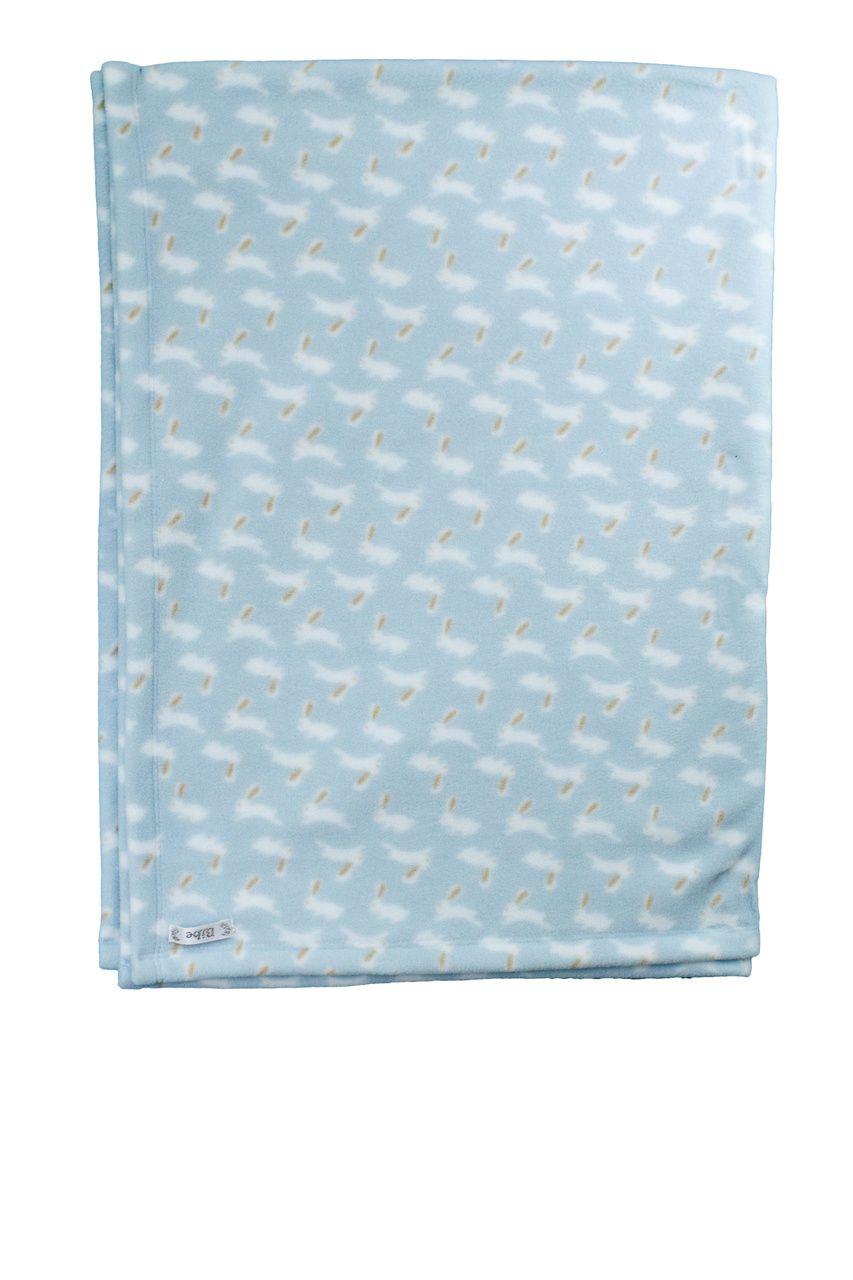 Cobertor Menino Soft Estampado Bebê Coelhinhos Azul